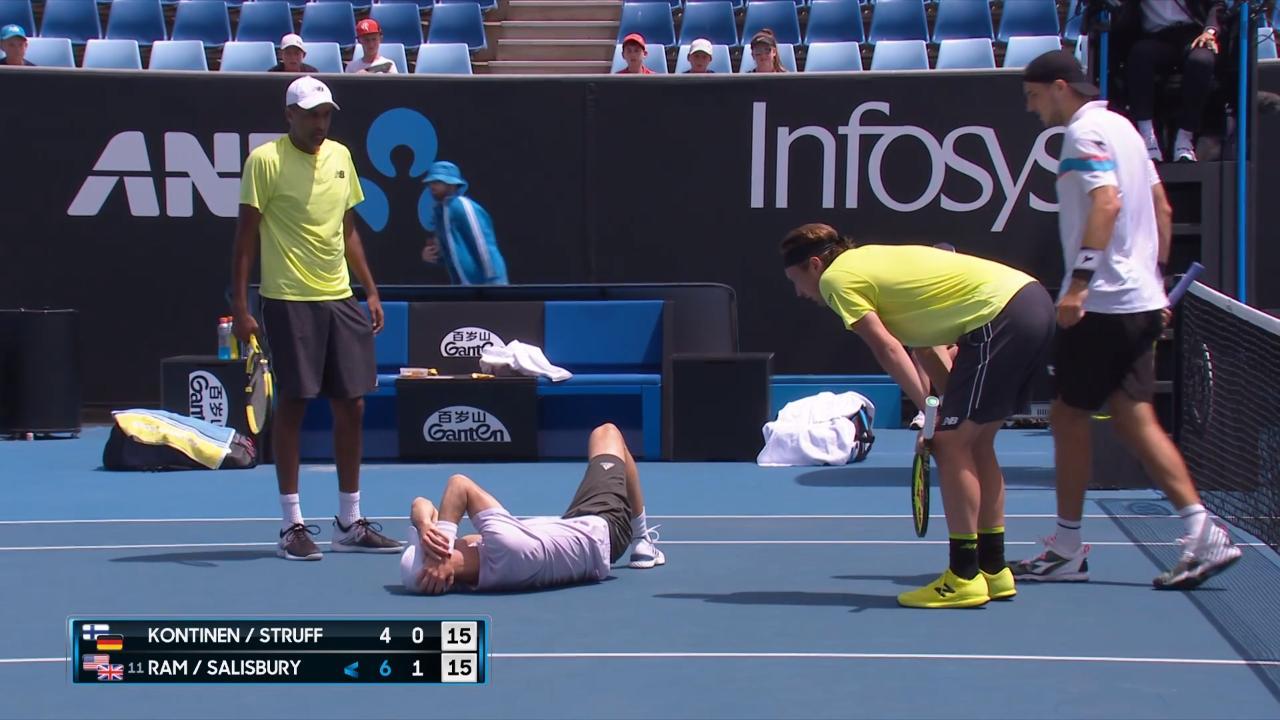 Kontinen/Struff v Ram/Salisbury match highlights (4R)   Australian Open 2020